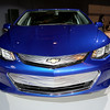 CAS59076<br /> <br /> The Volt's new, efficient propulsion system will offer a General Motors'-estimated total driving range of more than 400 miles and with regular charging, owners are expected to travel more than 1,000 miles on average between gas fill-ups.<br /> 2016 Volt highlights:<br /> •New two-motor drive unit is up to 12 percent more efficient and 100 pounds lighter (45 kg) than the first-generation drive unit<br /> •Two-motor design enables 19 percent stronger zero-to-30 mph acceleration <br /> •Battery capacity has increased to 18.4 kWh using 192 cells (96 fewer than current generation) with weight reduced by more than 20 pounds<br /> •Regen on Demand™ feature enables driver control of energy regeneration via a convenient paddle on the back of the steering wheel  <br /> •New 1.5L range extender, designed to use regular unleaded fuel, offers a combined GM-estimated fuel efficiency of 41 mpg (EPA estimate pending)<br /> •Stronger body structure and quieter ride<br /> •New braking system with improved capability and blended Regen feel<br /> •New, five-passenger seating with available rear heated seats <br /> •Location-based charging capability <br /> •120V portable cord set has a simpler, compact design with more convenient storage location <br /> •Available illuminated charge port<br /> <br /> The 2016 Volt goes on sale in the second half of 2015.