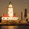 Chicago lighthouse - seen from Lake Michigan