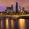 Sunset from Marina - Chicago, Illinois, USA.
