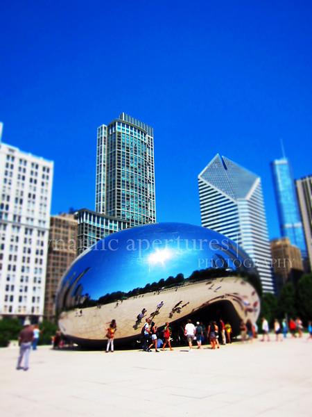 Chicago Cloud Gate (tiltshift effect)