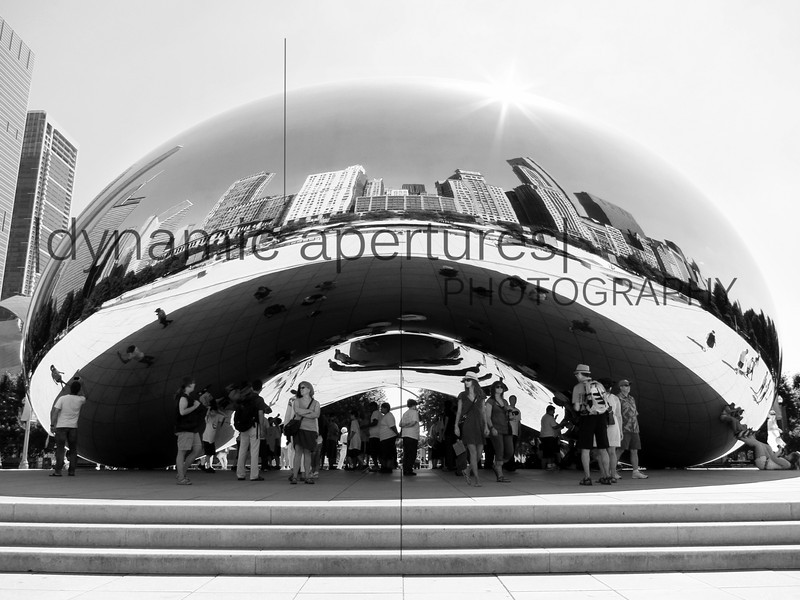 Chicago Cloud Gate in Black & White