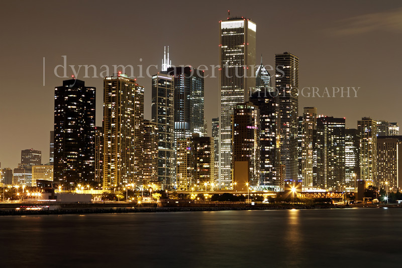 Chicago Nighttime View from Navy Pier