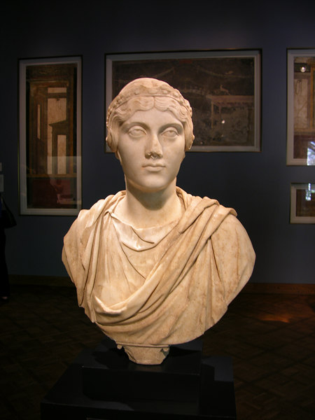 Roman bust at the Art Institute