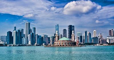 2011 - Chicago, Illinois skyline from Lake Michigan