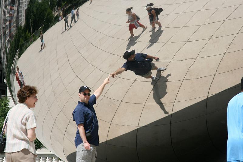 The reflective glob in Millennium Park