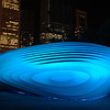 Blue Glowing Sculpture