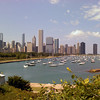 Looking N-NW from the terrace in front of the Shedd Aquarium.