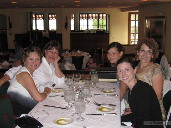 Before Lindsay's show: Renee, Mary, Me, Joann and Morgan