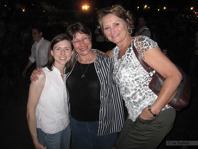 Me, Renee and Mary at a concert in the park