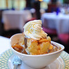Chicago Illinois The Burnham Hotel Atwood Cafe interior- banana bread pudding