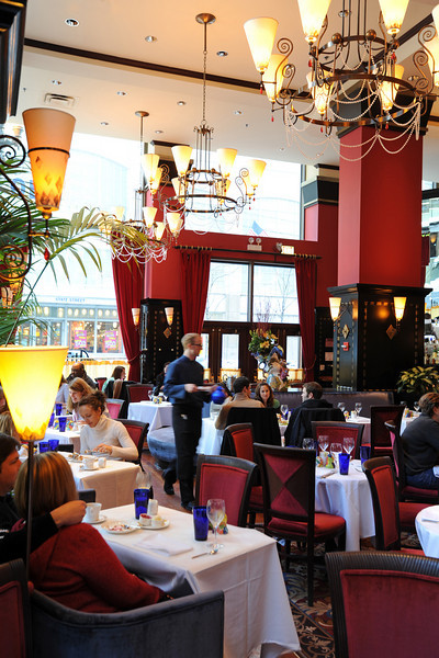 Chicago Illinois The Burnham Hotel Atwood Cafe interior Sunday Brunch