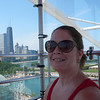 Diane riding the Ferris Wheel at Navy Pier on July 29th, 2010.