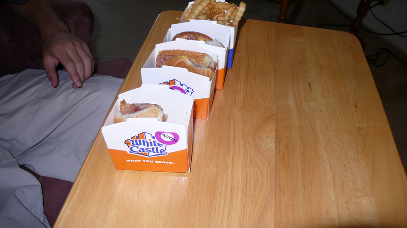 "DJ and Zach had their first White Castle ""sliders"""
