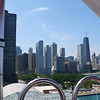 The view from the Ferris Wheel on Navy Pier, Chicago.