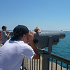 Scanning the waters of Lake Michigan.