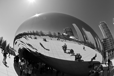 The Bean, at Millenium Park