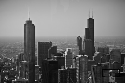 John Hancock Observatory Looking South towards Sears Tower and Chicago