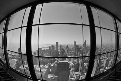 John Hancock Observatory Looking South on SkyDeck