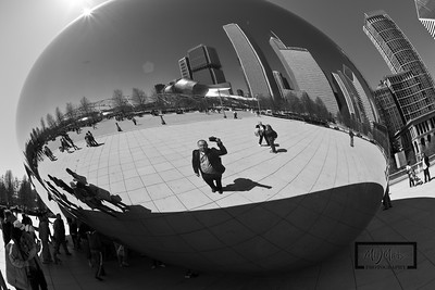 Self Portrait at Cloud Gate, or the Bean, at Millenium Park