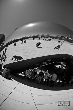 The Bean, at Millenium Park