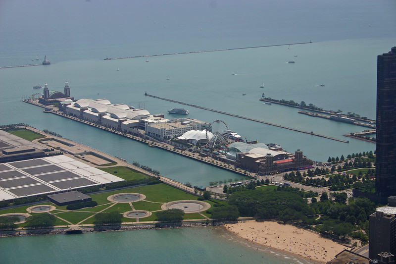 NAvy Pier from the John Hancock Tower observation deck.