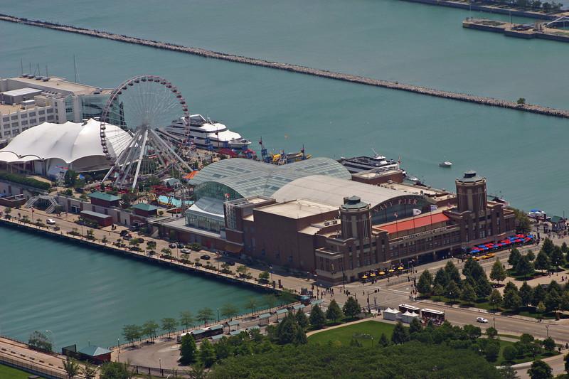 Ferris wheel etc on Navy Pier.
