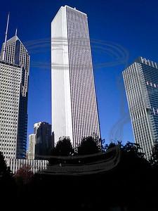 """""""Standard Oil"""" building as seen from Millennium Park. 20Oct10"""