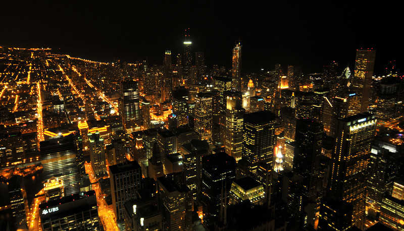 Chicago skyline From Sears Tower