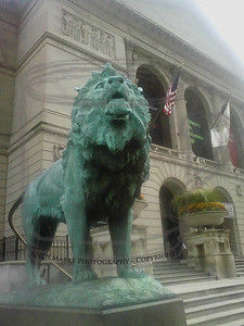 After lunch, the Art Institute of Chicago with its rare barking lions. 20Oct10