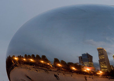 Sunset at the Chicago Bean