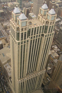 This is the Four Seasons Hotel. The shot was taken from the John Hancock Center.