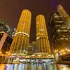 Chicago River Skyline at Night