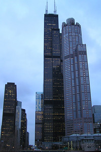 Chicago skyscrapers. John Hancock Centre as the main building