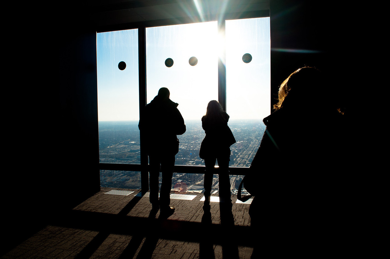 View from the Sky Deck at the Sears Tower.