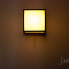 """<span id=""""title"""">Unity Light</span> A light at Unity Temple, a universalist church designed by Frank Lloyd Wright."""
