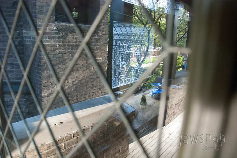 """<span id=""""title"""">Can't Get In</span> The leaded glass was all very nice at Frank Lloyd Wright's house. Crazy reflections."""