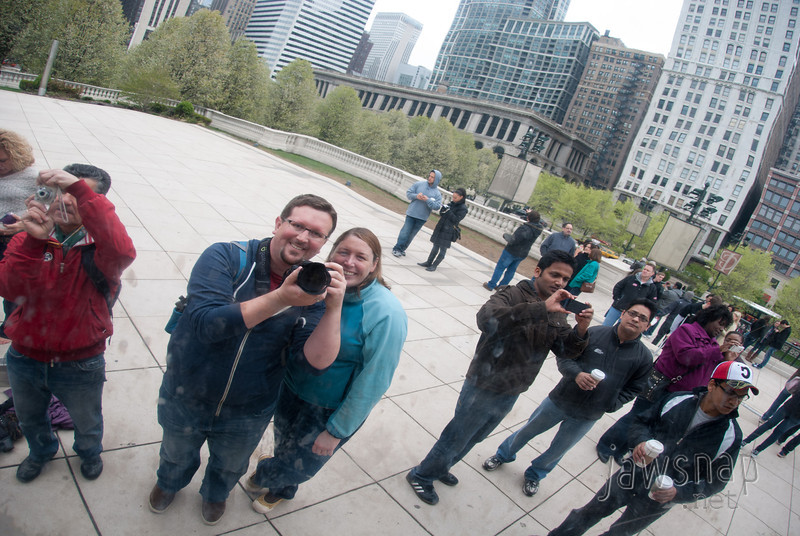 """<span id=""""title"""">Self Portrait 2</span> We had a lot of fun playing around the sculpture, as did everyone. There was a pretty big crowd."""