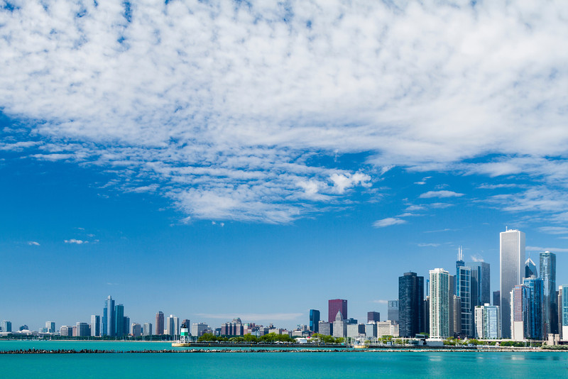 A view of Chicago from Navy Pier.