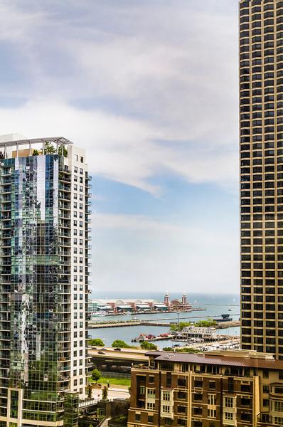 View of Navy Pier from my son's girlfriend's condominium