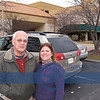 """Our """"hosts"""" for the Weekend...Roger and Lisa from Jeffersonville, Indiana. We met at Merrillville, at the parking lot of the agreed upon hotel and we left our VW, shown here next to their Toyota van."""