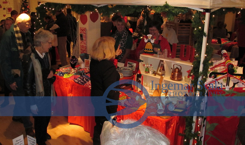 Various Swedish handicrafts and copper products for sale in the Bazaar section.