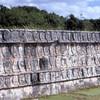 can8602_01, Wall of Skulls (Tzompantli), Chichen Itza, Maya Ruins, Yucatan Peninsula, Mexico