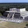 can8602_07, Temple of the Warriors, Chichen Itza, Maya Ruins, Yucatan Peninsula, Mexico