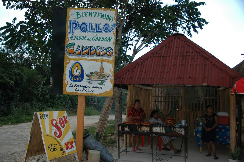 Roadside stall selling BBQ chicken :)