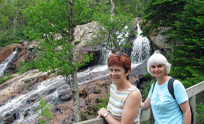 Linda and Joan at the Falls