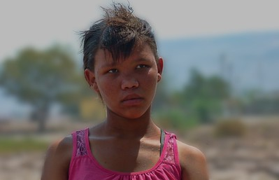 A young girl who sang for us in Bergsig, a village near the school.
