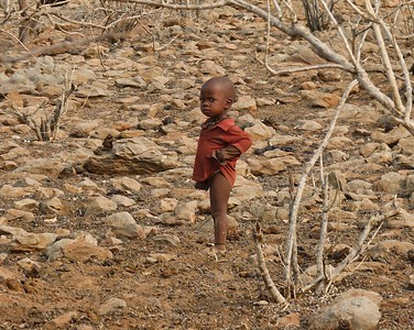 A very young Himba boy.