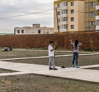 Practicing for Naadam