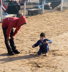 On the Essaouira beach