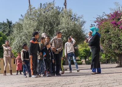 Outside the Koutoubia Mosques, Marrakesh